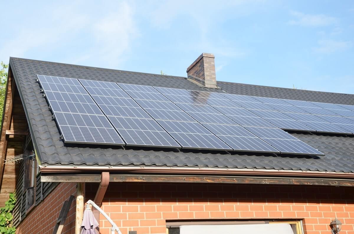 Panele słoneczne - Dom jednorodzinny